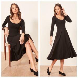{Reformation} Lou midi dress with pockets